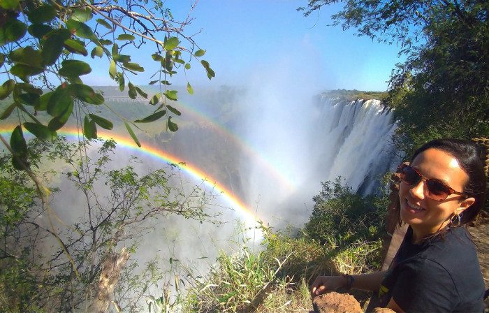 Rainbow at the Victoria Falls