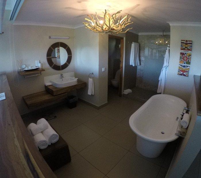Banheiro do Victoria Falls Safari Club