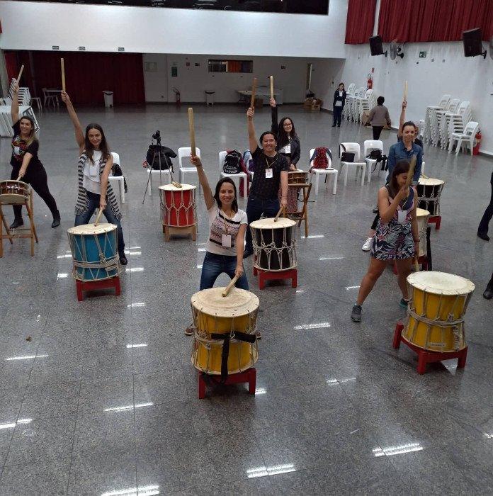 Aula de Taiko | Japão.BR - Cultura japonesa em SP