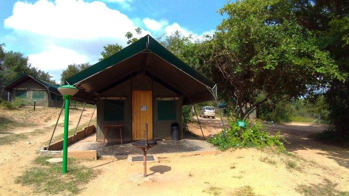 Safari tent, Skukuza Rest Camp.