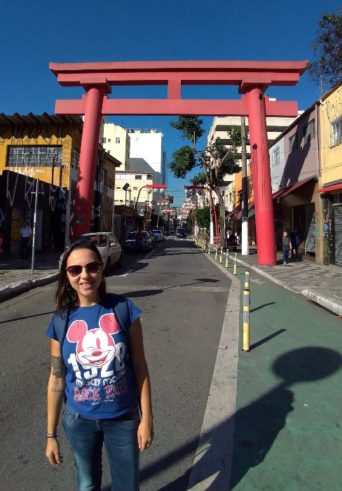 Portal japonês, bairro Liberdade.