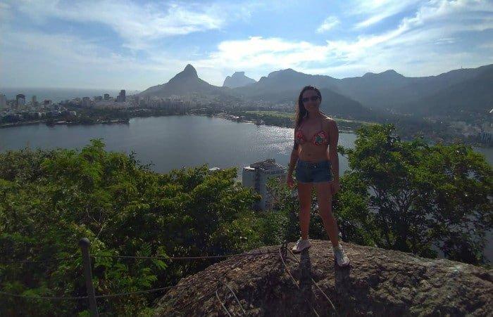 Mirante Sacopã e Lagoa Rodrigo de Freitas ao fundo.